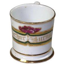 "Floral Border ""Arthur Burns"" Shaving Mug - Vintage"