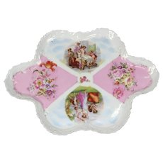 German Porcelain Condiment Plate - Hand Painted