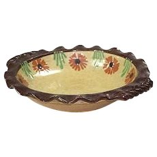 Jaspe Ware Shallow Bowl or Pie Plate - First Quarter 20th Century
