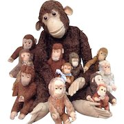 13 Steiff monkeys. 1 monkey is 36 inch tall!