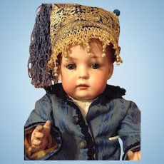 Lovely antique Bahr&Pröschild character doll with a closed mouth/Toddler body in marvelous condition - 2072