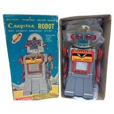 1960's Japan Cragstan CO's Rare Gray Mr. Robot in Scarce Original Box