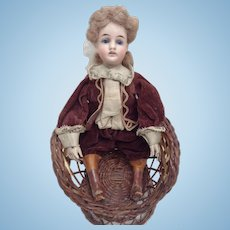 Exclusive rare antique lady doll with iron hands and a closed mouth