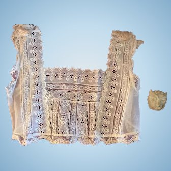 Antique top with needle lace - ca. 1880