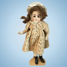 Lovely all bisque doll around 1900.