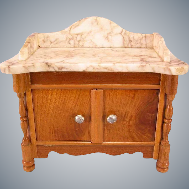 Cool Antique German Dollhouse Schneegas Marble Top Washstand Late Victorian Large 1 Scale Download Free Architecture Designs Scobabritishbridgeorg