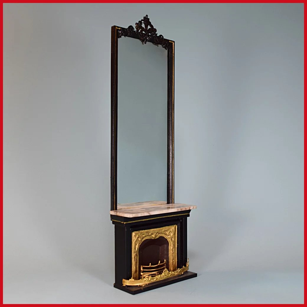 Antiques Collectibles: Antique German Dollhouse Rock And Graner Fireplace With