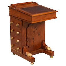 "Artisan Dollhouse Davenport Desk by Escutcheon Miniatures 1980s 1"" Scale - Red Tag Sale Item"