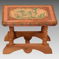 "Antique Bliss Dollhouse Lithographed Table - From the ABC Set 1900s 1"" Scale"