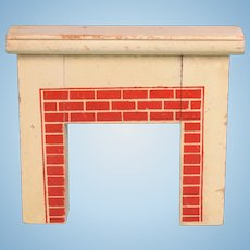 "Dollhouse Painted Wood Fireplace 1920s – 1930s 1"" Scale"