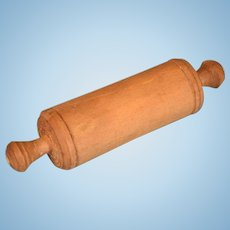 Antique German Miniature Wooden Rolling Pin for the Doll Kitchen Early 1900s