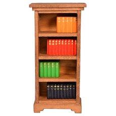 "German Dollhouse Bookshelf with Books 1910 - 1920s 1"" Scale"