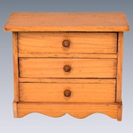 "German Dollhouse Chest of Drawers Early 1800s 1"" Scale"