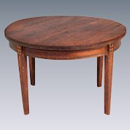 """Miniature Tynietoy Sheraton Dining Room Table 1920s –  1930s 1"""" Scale"""