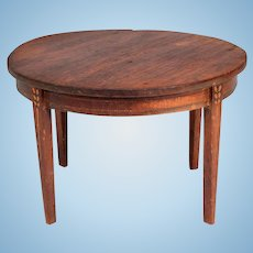 "Miniature Tynietoy Sheraton Dining Room Table 1920s –  1930s 1"" Scale"