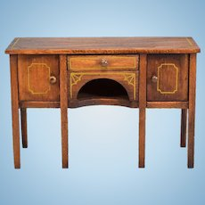 """Tynietoy Dollhouse Sheraton Sideboard 1920s - 1930s Large 1"""" Scale"""