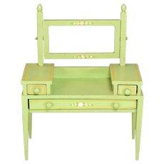 "Miniature Tynietoy Vanity Green Enamel 1920s – 1930s 1"" Scale"
