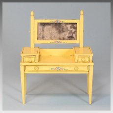 "Miniature Tynietoy Vanity Yellow Enamel 1920s – 1930s 1"" Scale"