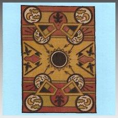 Native American Tobacco Felt Rug Early 1900s