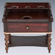 "Biedermeier Dollhouse Washstand by Kestner Mid 1800s 1"" Scale"