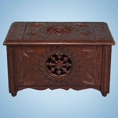Miniature French Brittany Storage Chest Late 1800s – Early 1900s