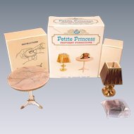 "Petite Princess Heirloom Table and Accessories MINT in Box #4428-9 by Ideal 1964 3/4"" Scale"