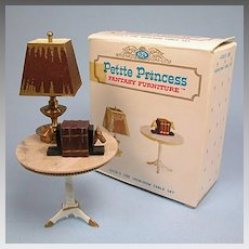 """Petite Princess Heirloom Table and Accessories with Box #4428-9 by Ideal 1964 3/4"""" Scale"""