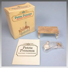 "Petite Princess Palace Table and Accessories MINT in Box #4431-3 by Ideal 1964 3/4"" Scale"