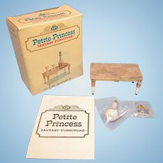 """Petite Princess Palace Table and Accessories MINT in Box #4431-3 by Ideal 1964 3/4"""" Scale"""