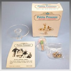 "Petite Princess Salon Coffee Table and Accessories MINT in Box #4433-9 by Ideal 1964 3/4"" Scale"