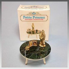 "Petite Princess Occasional Table and Accessories with Box #4437-0 by Ideal 1964 3/4"" Scale"