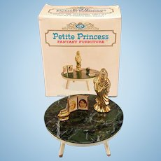 """Petite Princess Occasional Table and Accessories with Box #4437-0 by Ideal 1964 3/4"""" Scale"""