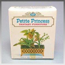 "Petite Princess Dollhouse Salon Planter MINT in Box #4440-4 by Ideal 1964 3/4"" Scale"