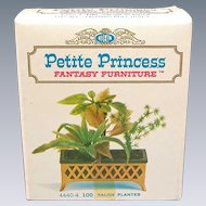 "Petite Princess Dollhouse Salon Planter MINT in Box #4440-4 by Ideal 1964 3/4"" Scale"
