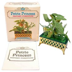 "Petite Princess Salon Planter MINT in Box #4440-4 by Ideal 1964 3/4"" Scale"