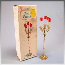 "Petite Princess Fantasia Candelabra with Box #4438-8 by Ideal 1964 3/4"" Scale"