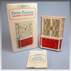 "Petite Princess Treasure Trove Cabinet with Box #4418-0 by Ideal 1964 3/4"" Scale"