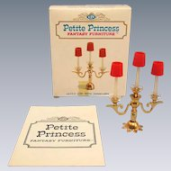 "Petite Princess Royal Candelabra with Box #4439-6 by Ideal 1964 3/4"" Scale"