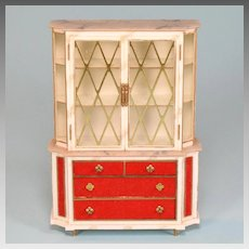 "Petite Princess Treasure Trove Cabinet #4418-0 by Ideal 1964 3/4"" Scale"