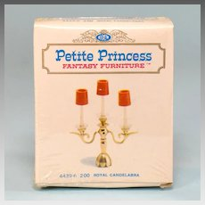 "Petite Princess Royal Candelabra MINT in Box #4439-6 by Ideal 1964 3/4"" Scale"