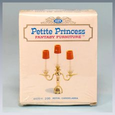 """Petite Princess Royal Candelabra MINT in Box #4439-6 by Ideal 1964 3/4"""" Scale"""