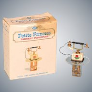 "Petite Princess Fantasy Telephone Set with Box #4432-1 by Ideal 1964 3/4"" Scale"
