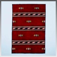 Native American Tobacco Felt Rug Boho Style Early 1900s