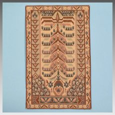 """Millie August Miniatures Cashmere Collection Persian Rug 1970s Large 1"""" Scale"""