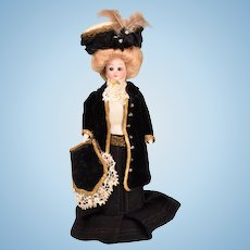 """Simon & Halbig Edwardian Lady Doll with Glass Eyes Early 1900s Large 1"""" Scale"""