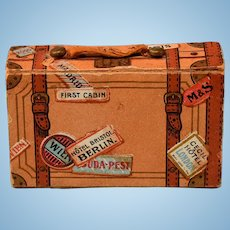 "German Suitcase Candy Container Early 1900s 1"" Scale"