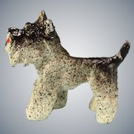 "Vintage Cast Metal Miniature Scottish Terrier Dog Small 1"" Scale"