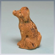 "Vintage Miniature Painted Plaster Dollhouse Dog 1"" Scale"