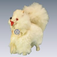 "Vintage West German Miniature Fur Spitz Salon Dog Mid 1900s Large 1"" Scale"