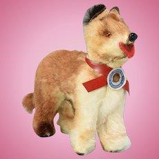 "Vintage West German Miniature Fur Dog Mid 1900s Large 1"" Scale"